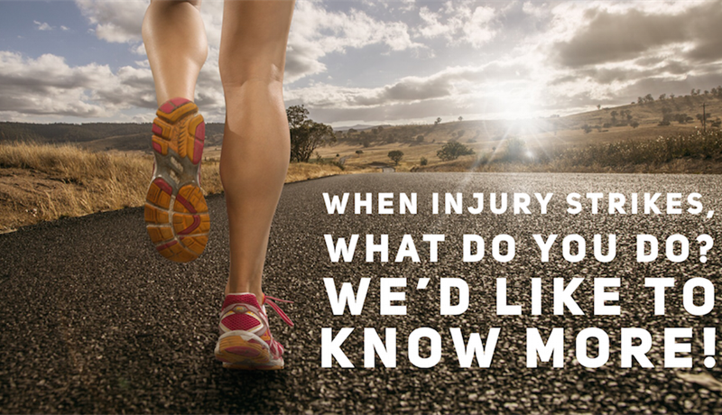 Runners! When injury strikes, what do you do? We'd like to find out more!
